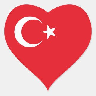 Turquia/bandeira turca adesivo coração