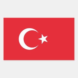 Turquia/bandeira turca adesivo retangular