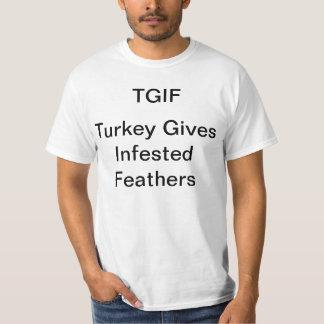 Turquia dá a pena infestada camiseta