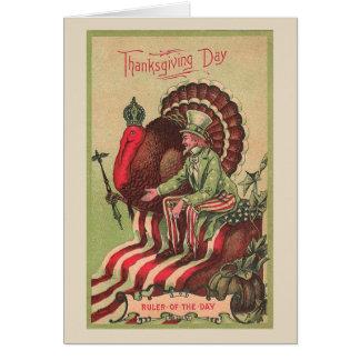Turquia ordena o dia na acção de graças, cartão