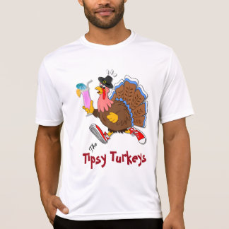 Turquia Tipsy (cocktail) - esporte Tek SS Camiseta