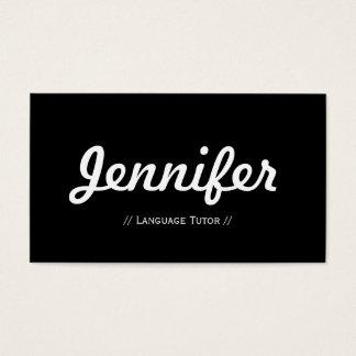 Tutor da língua estrangeira - conciso simples cartão de visitas