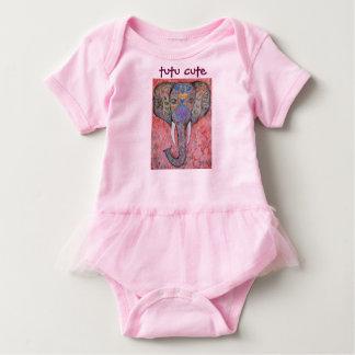 Tutu bonito do bebé da arte do elefante body para bebê