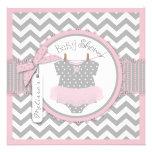 Tutu & chá de fraldas cor-de-rosa do impressão de  convites personalizados