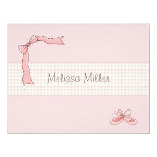 Tutu cor-de-rosa obrigado personalizado convite 10.79 x 13.97cm