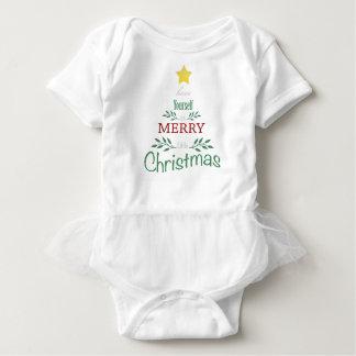 Tutu da árvore de Natal Body Para Bebê