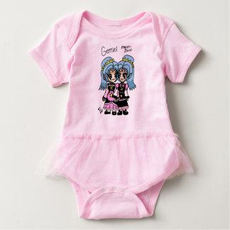 tutu do bebê dos gemini body para bebê