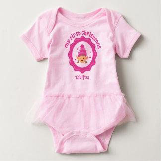 Tutu do Natal do bebê primeiro Body Para Bebê
