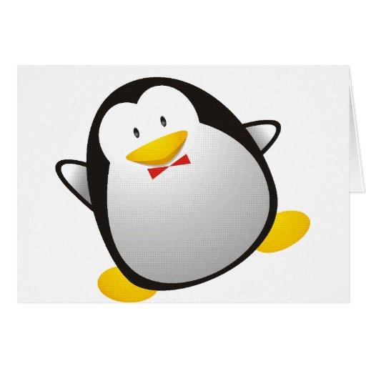 Tux da imagem do linux do pinguim cartões