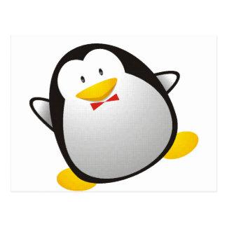 Tux da imagem do linux do pinguim cartão postal