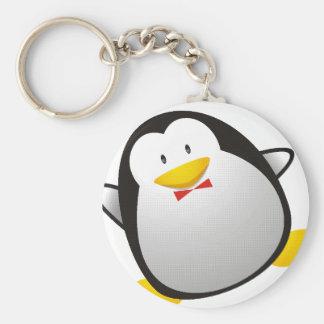 Tux da imagem do linux do pinguim chaveiros