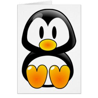 tux do pinguim do bebê cartão comemorativo