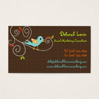 Tweet de PixDezines, tweet, cor de SEO Cartão De Visitas