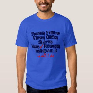 Tweet é tudo que eu faço camisetas