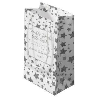 Twink, cintilação pouco chá de fraldas da estrela sacola para presentes pequena