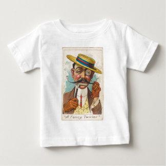 Twirler extravagante camiseta para bebê