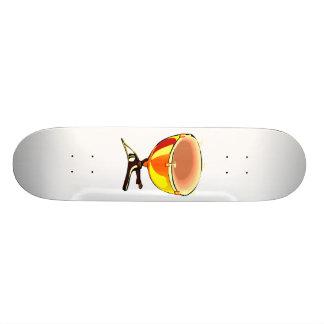 Tympani com imagem do gráfico dos afinadores da mã shape de skate 20cm
