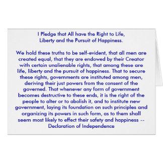 !!! U cria a declaração de independência Cartao