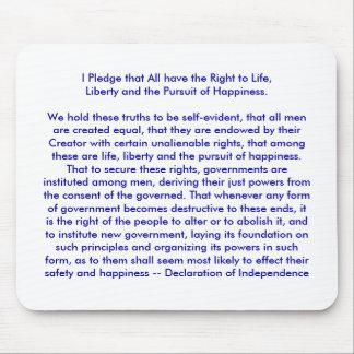 !!! U cria a declaração de independência Mouse Pads