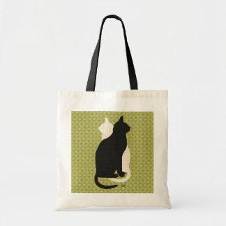 U escolhe boa sorte o gatinho preto & branco Catz Sacola Tote Budget