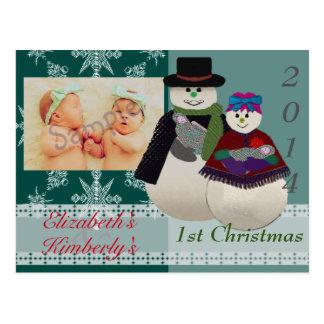 U escolhe Natal do gêmeo recém-nascido do boneco Cartão Postal