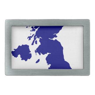 U.K. e silhueta de Irlanda do Norte