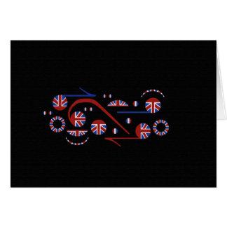 U.K. Notas musicais da bandeira Cartão Comemorativo