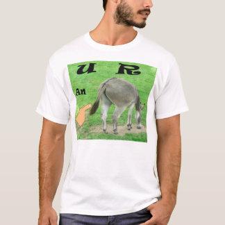 U R umas camisetas engraçadas do asno