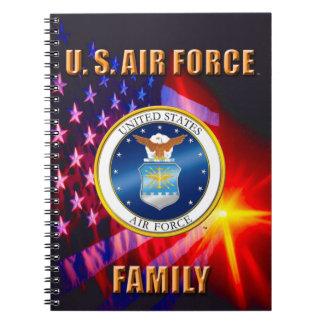 U.S. Caderno da foto da espiral da família da