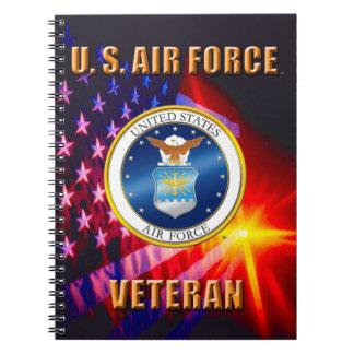 U.S. Caderno da foto da espiral do veterano da