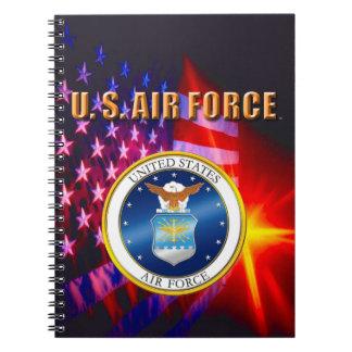 U.S. Caderno espiral da foto da força aérea