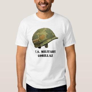 U.S. Camisa militar de Gorillaz Camisetas