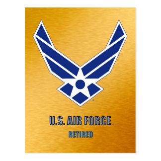 U.S. Cartão aposentado força aérea