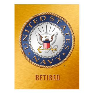U.S. Cartão aposentado marinho
