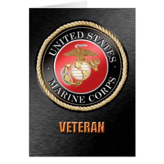 U.S. Cartão do veterano do Corpo do Marines