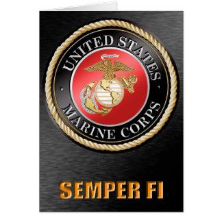 U.S. Cartões de Semper Fi do Corpo do Marines