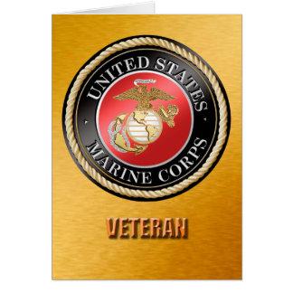 U.S. Cartões do veterano do Corpo do Marines