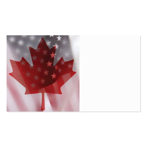 U.S. e Canadá embandeira o cartão de visita