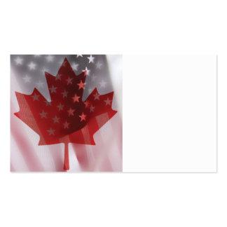 U S e Canadá embandeira o cartão de visita