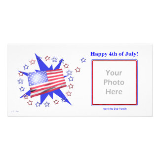 U S Estrelas da bandeira - 4ns de julho Cartoes Com Foto