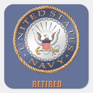 U.S. Etiqueta aposentada marinho