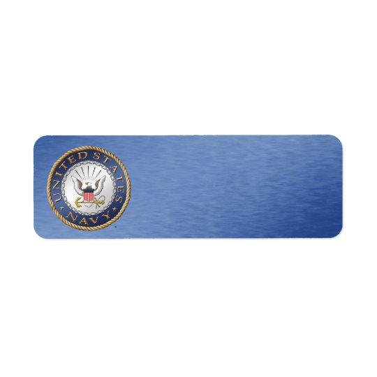 U.S. Etiqueta de endereço do marinho