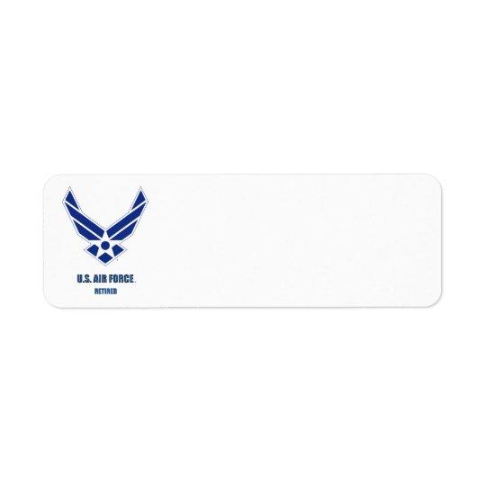 U.S. Etiqueta de endereço do remetente aposentada