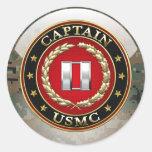 U.S. Fuzileiros navais: Captain (capitão) do USMC  Adesivo