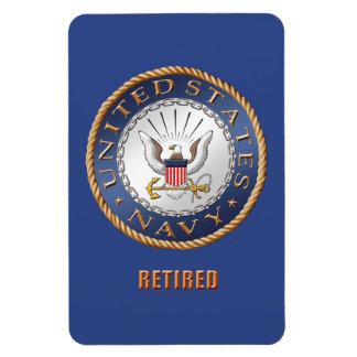 U.S. Ímã flexível aposentado marinho da foto