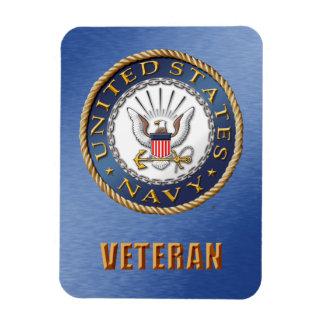 U.S. Ímã flexível da foto do veterano do marinho