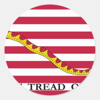 U.S. Jack naval Adesivos Redondos