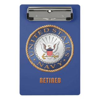 U.S. Mini prancheta aposentada marinho