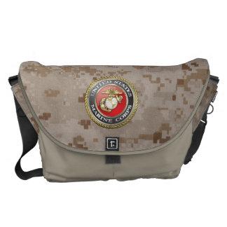 U.S. O Corpo do Marines (USMC) simboliza [3D] Bolsas Mensageiro