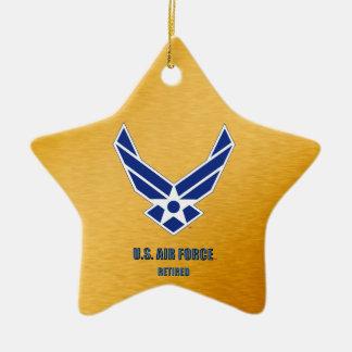 U.S. Ornamento cerâmico aposentado força aérea